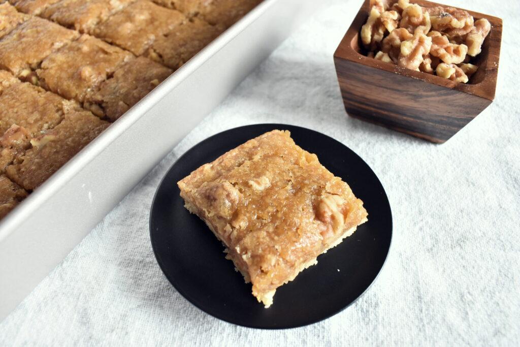 Vegan Walnut Butter Tart Squares