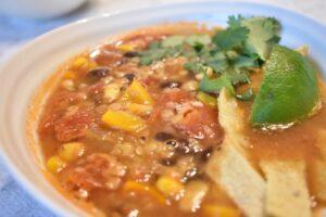 Hearty Vegan Tortilla Soup