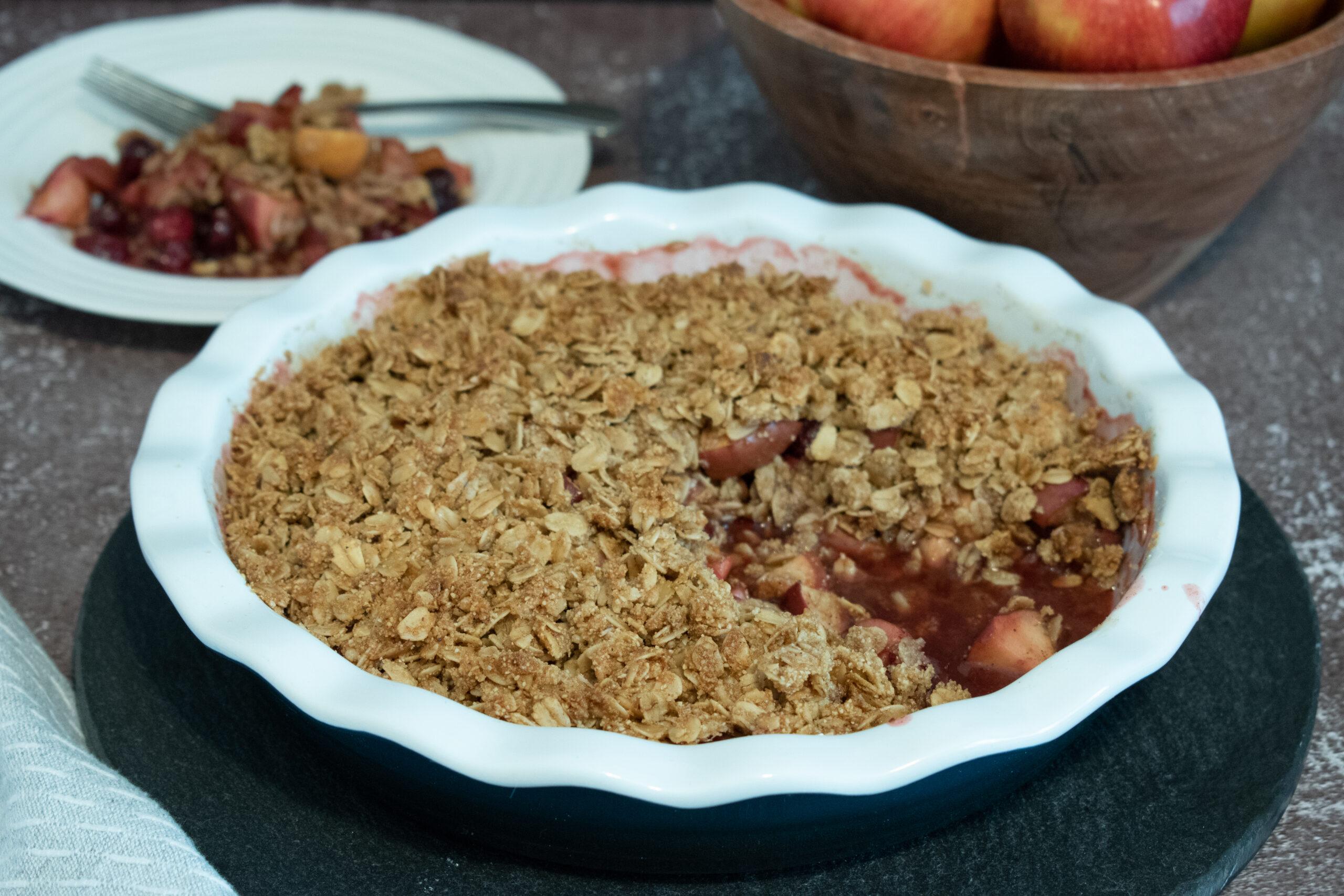 Cranberry Apple Crumble