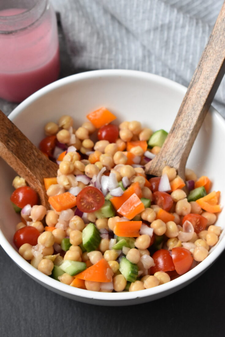 Chickpea Salad with Sweet Onion Dressing