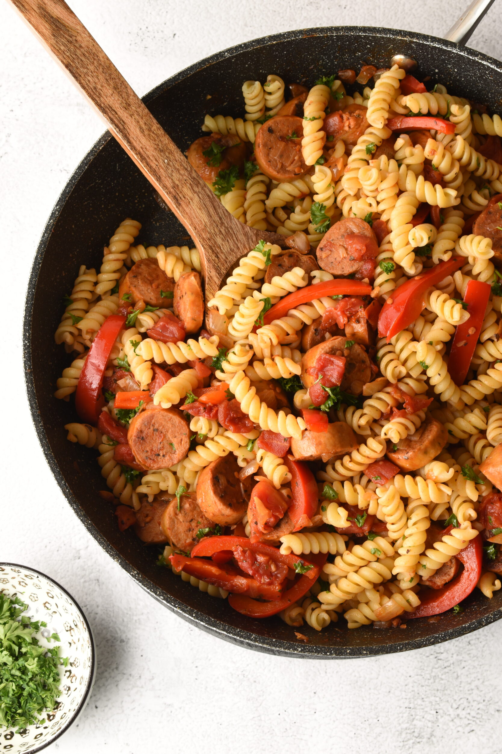 Vegan Sausage Pasta Skillet Dinner Recipe