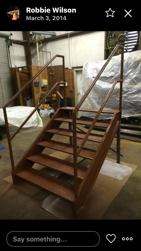 Steel mobile staircase