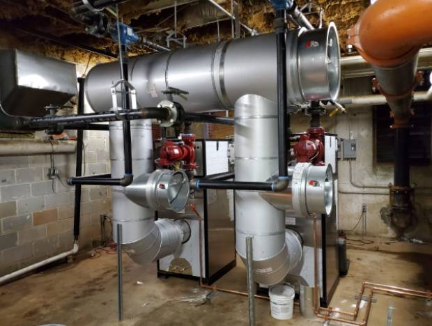Large pipes where air passes through