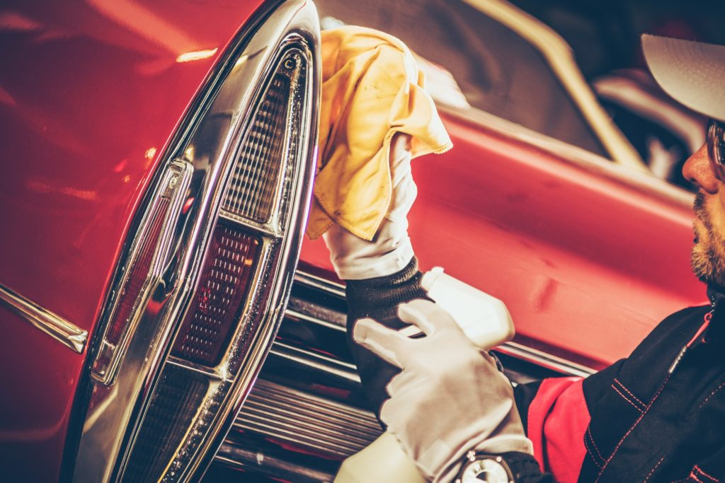Classic Car Body Cleaning