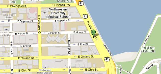 680 N Lakeshore Dr. Chicago Map