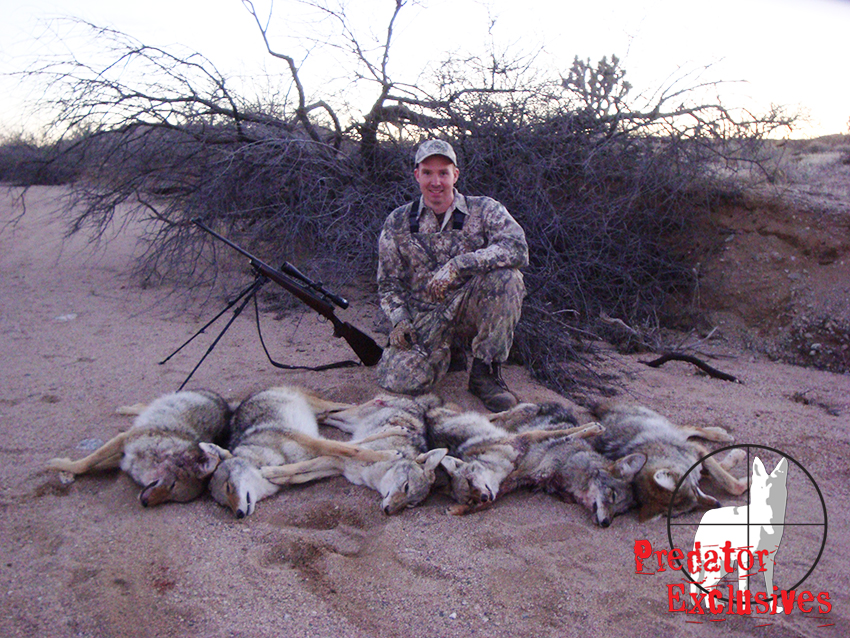 Ian Chappel came out from Pennsylvania for his guided coyote hunt.