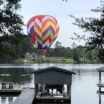 Hot Air Balloon Over Bath Creek NC