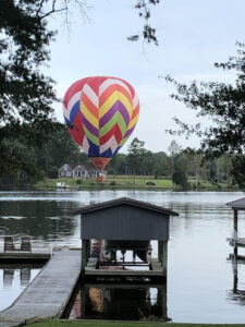 Hot Air Balloon Over Bath Creek NC