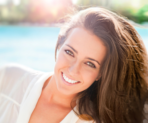 Person after botox injections in Naples, FL