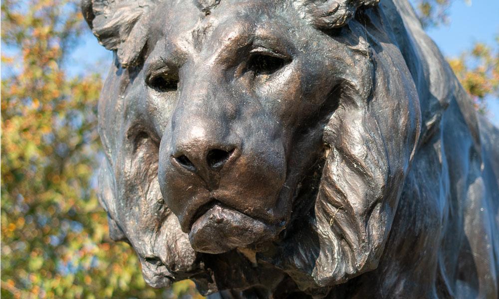 dayton art institute lion statue