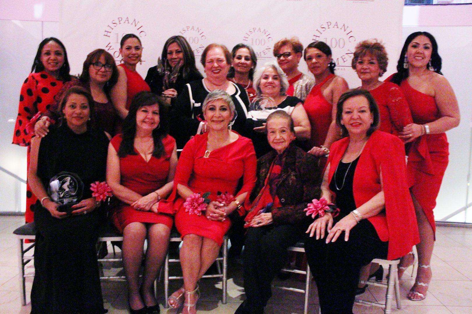 Women wearing red apparel