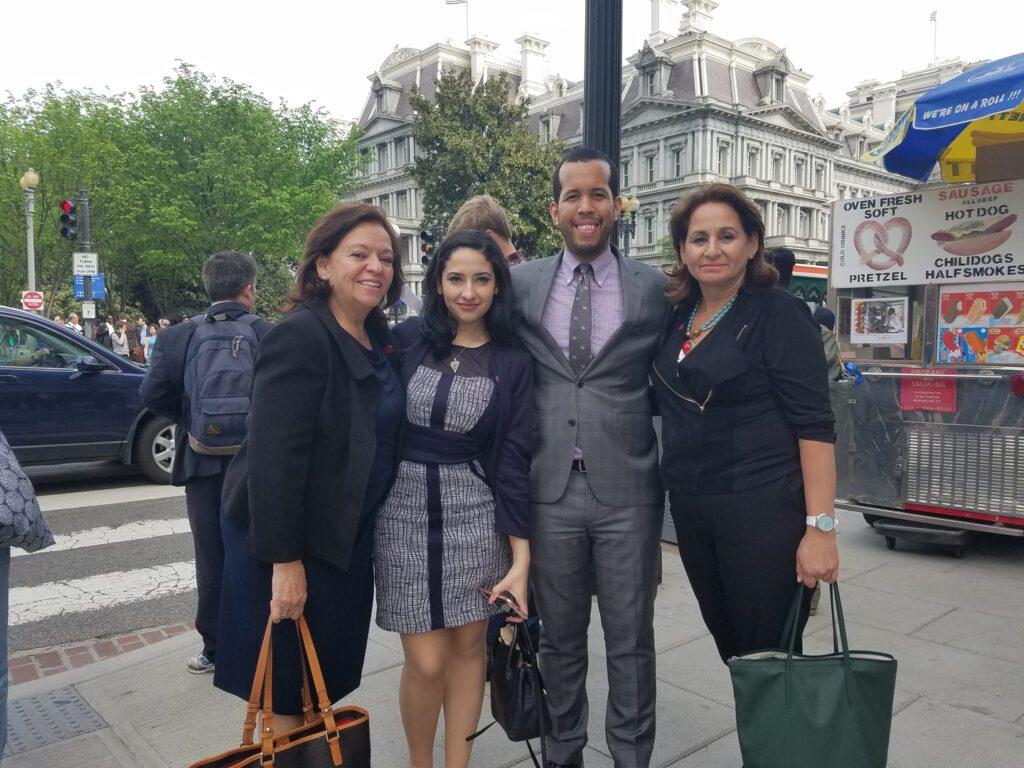 Four people in Washington DC
