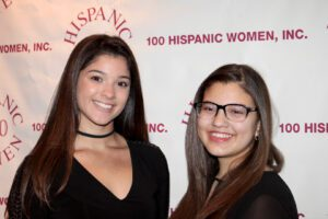 Two women attending the inspiration night
