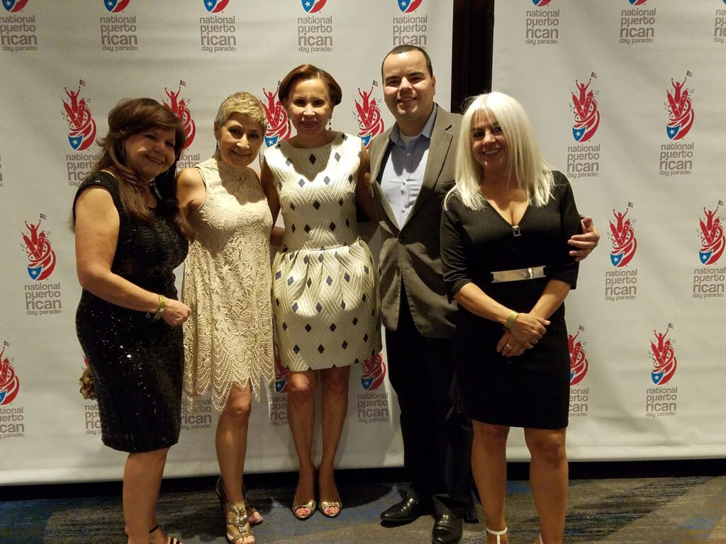 Five participants of the Puertorican Day Parade Gala 16'