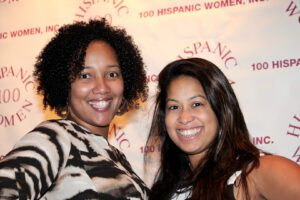 Two women attending the gala