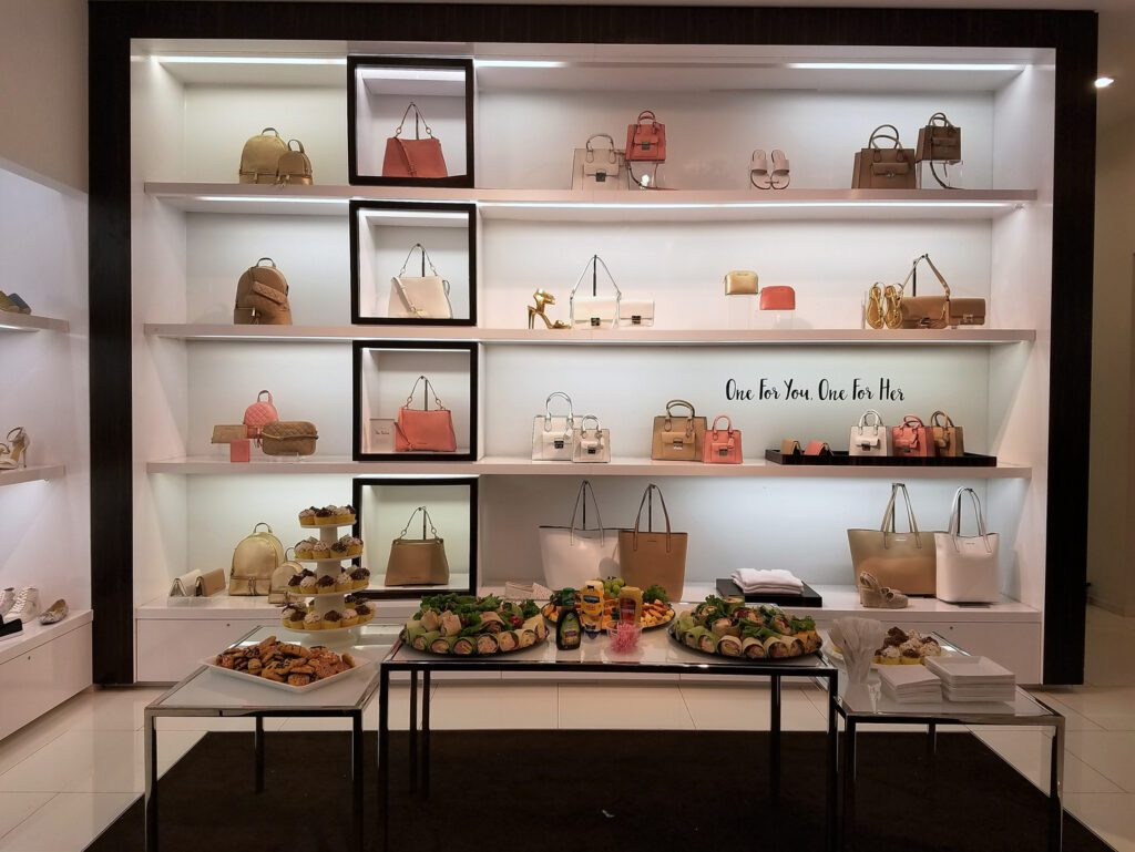 Bags, shoes, and treats for women