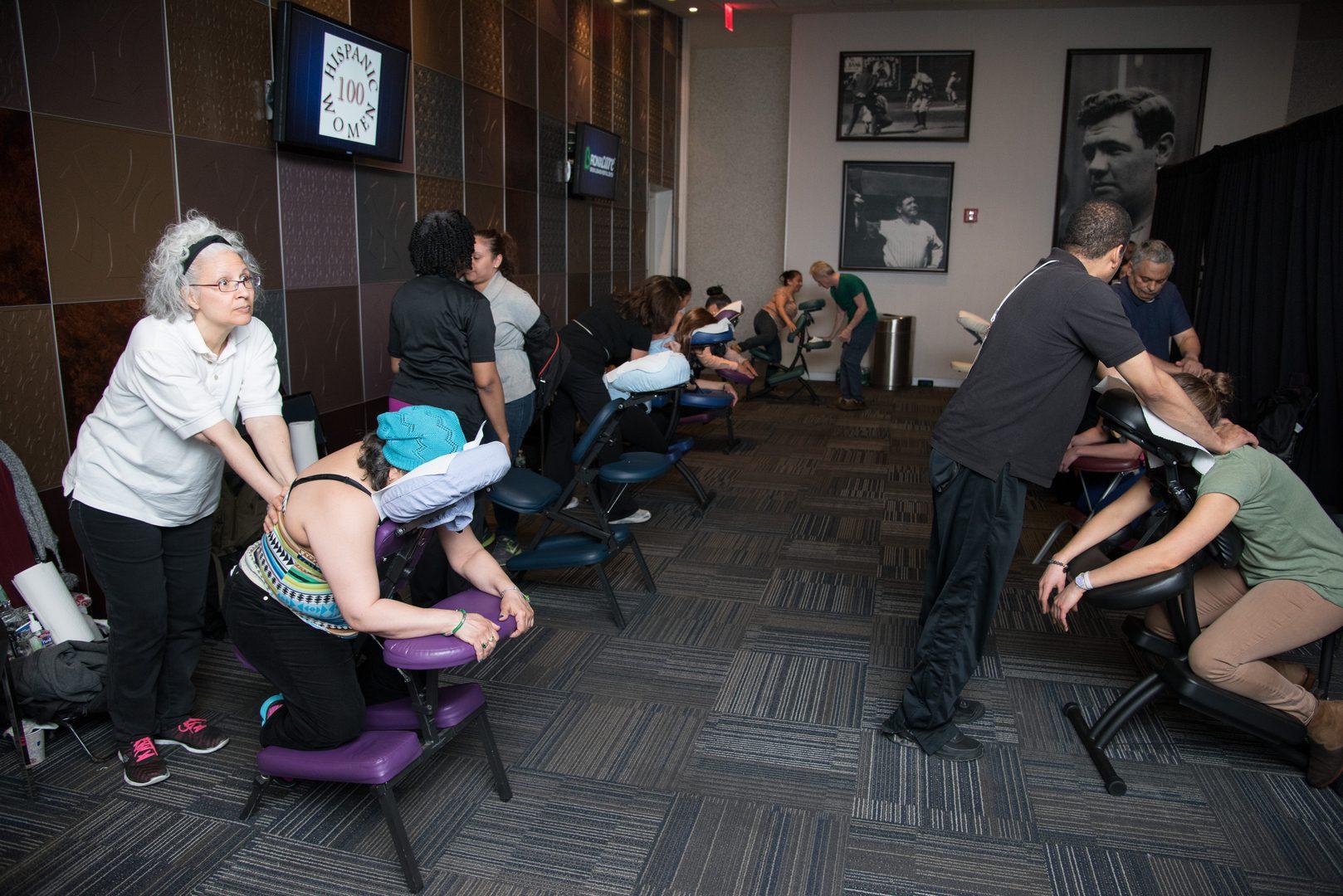 A massage area