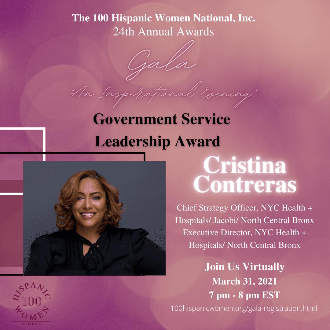 A Government Service Leadership Award