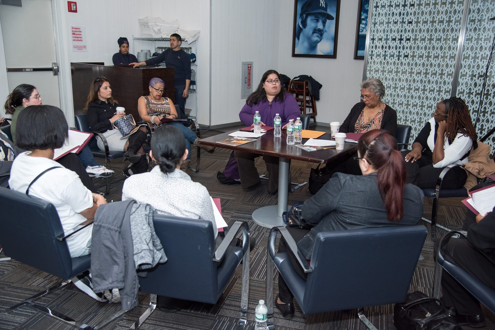 A group of women in discussion