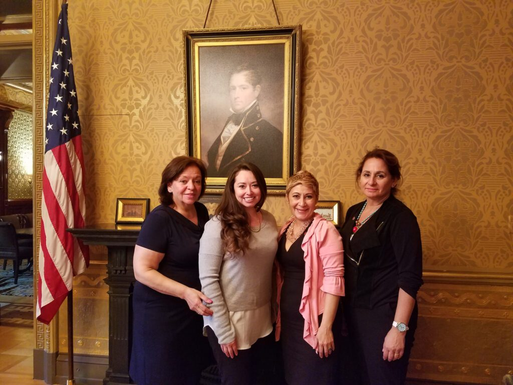 Nancy with three other women