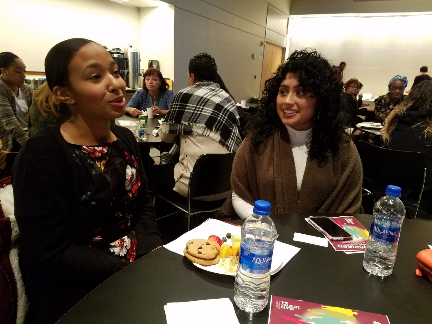 Women in table discussions