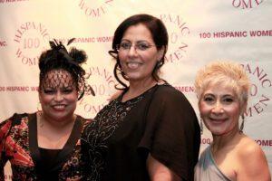 Three women in gorgeous dresses