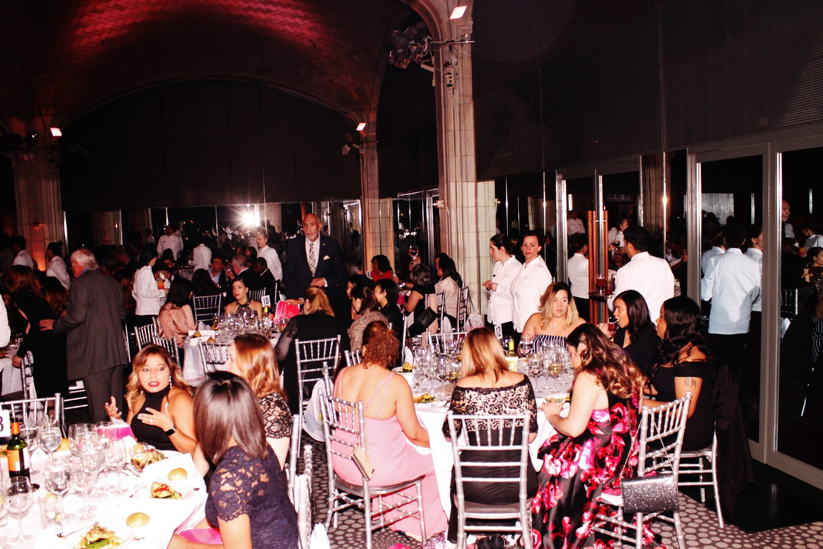 Guests eating at the dining area
