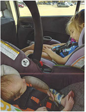 Children in child seats
