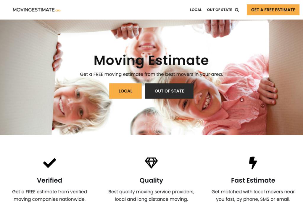 MovingEstimate.org Moving Website
