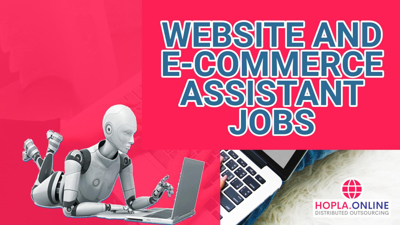 Website And E-Commerce Assistants Jobs