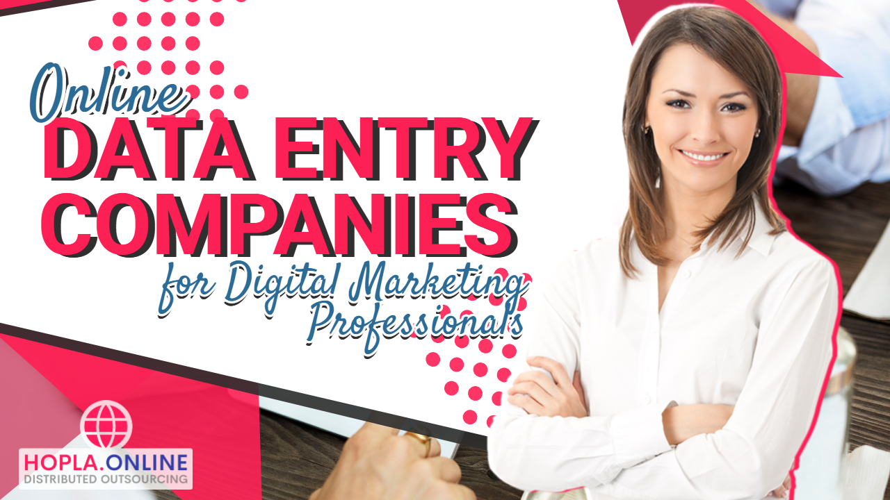 Online Data Entry Companies For Digital Marketing Professionals