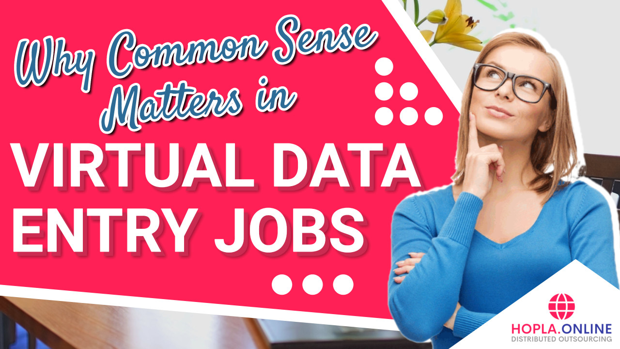 Why Common Sense Matters In Virtual Data Entry Jobs