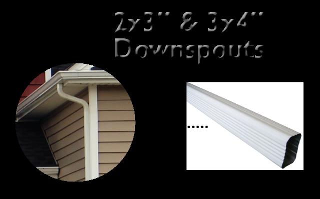 2x3 downspouts Gutter Styles