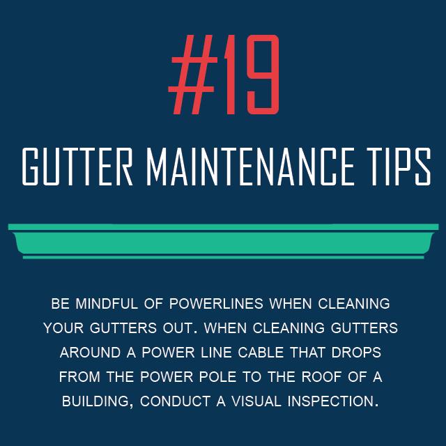Gutter Maintenance Tips #19 - Watch For Power Line Hazards