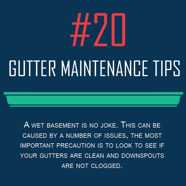 Gutter Maintenance Tips #20 - Wet Basement Fix