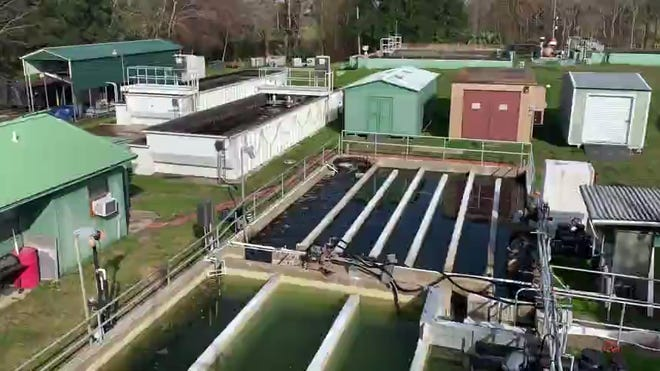 View of the Tiger Point Wastewater Treatment facility