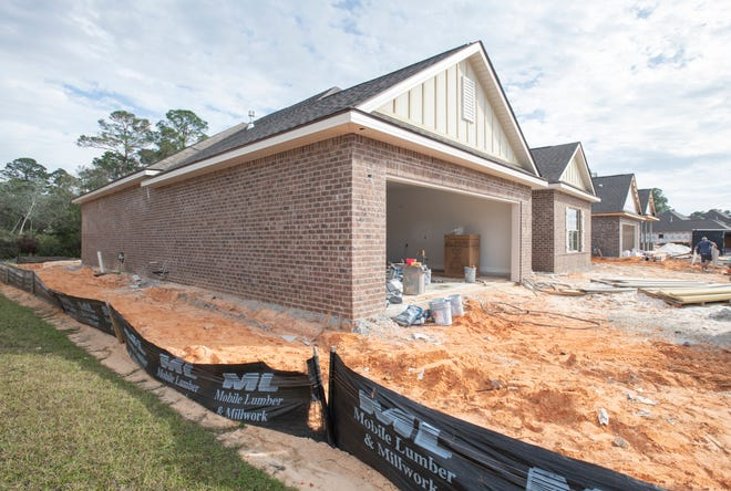 House under construction in Gulf Breeze's The Waters subdivision