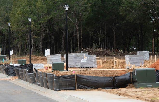 Construction site of Milton's Cambria subdivision