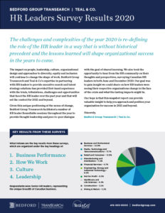 HR Leaders Survey Results 2020