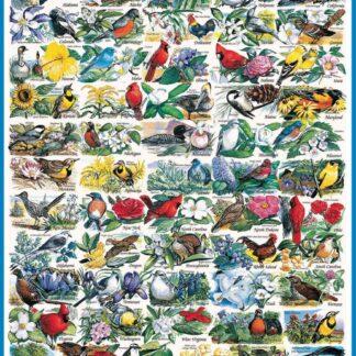 State Birds & Flowers - 1000 Piece Jigsaw Puzzle