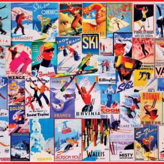 CharlesSimpson.com Ski Posters - 1000 Piece Jigsaw Puzzle