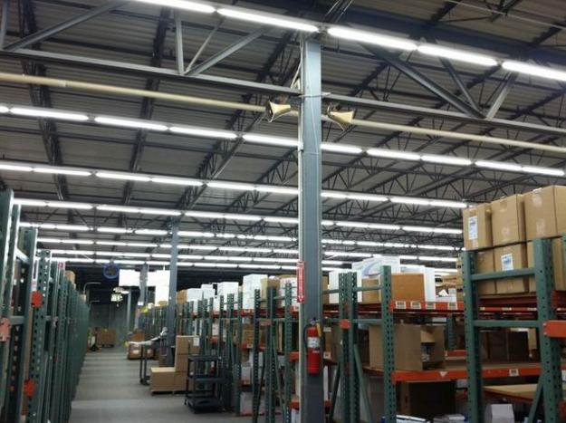 Before:  T12 fluorescent 8' 2-Lamp 60w each<br> After: 1-Lamp 8' HO 24w - Blended lighting energy savings of 61% and increase in production