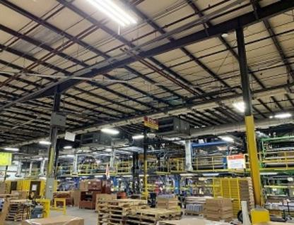 ROI under 1.5 years on 1 million plus Sq. Ft.<br>  Retrofitted 3000 + fixtures<br> Reduce energy consumption by 68%<br>  Savings over $250,00/yr on KWH reduction<br> Rebate of $55,000 (allowable on one bldg. only
