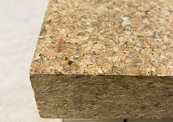 Ultra dense cork for interior signage