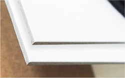 White aluminum sign substrate for exterior and interior signs