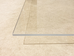 Clear acrylic for signage materials