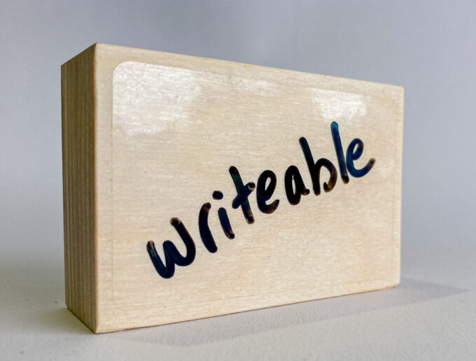 Small dry erase sign