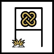 Yard sign icon