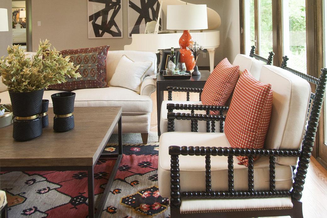 Emily Hughes Portfolio Modern Transitional Farmhouse Living Room