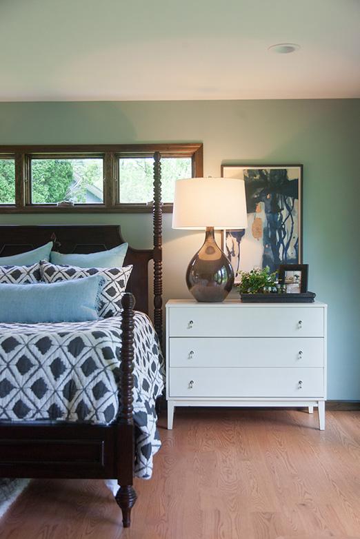 Emily Hughes Portfolio: Modern Eclectic Remodel Bedroom Details